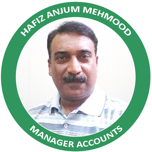 Manager Accounts - Hafiz Anjum Mehmood